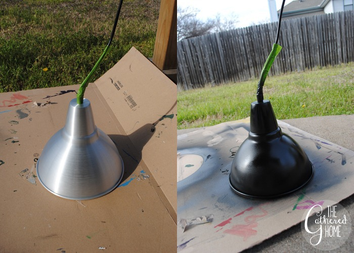 Spray-Painting-Light-Fixture