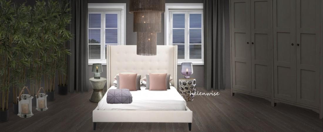 Спальня с бамбуком